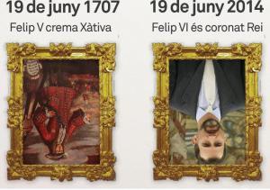 19 Junio 1707 Felipe V quema Xàtiva 19 Junio 2014 Felipe VI es coronado