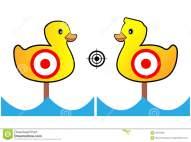 la-blanco-pintó-los-patos-amarillos-para-la-radio-de-tiro-y-el-entretenimiento-83721908.jpg